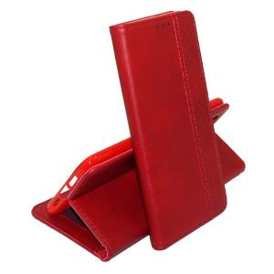 Business Wallet | Кожаный чехол книжка с визитницей для Xiaomi Redmi Note 8