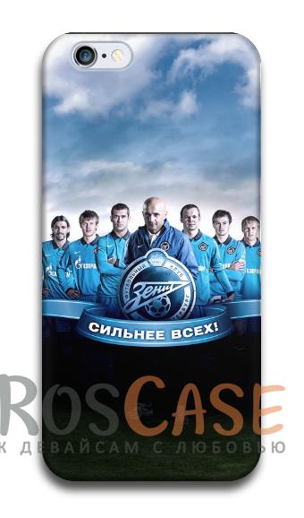 """Фото Зенит Пластиковый чехол RosCase """"Футбольные команды"""" для iPhone 5C"""