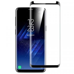 Защитное 3D стекло с цветной рамкой на весь экран для Samsung Galaxy S9+