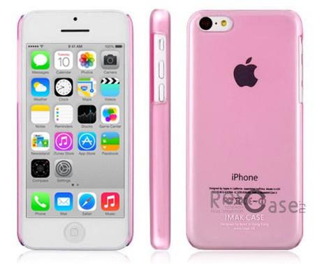 Пластиковая накладка IMAK 0,7 mm Color series для Apple iPhone 5C (Розовый)<br><br>Тип: Чехол<br>Бренд: iMak<br>Материал: Пластик