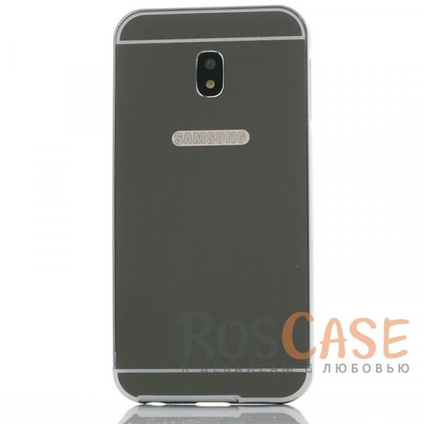 Защитный металлический бампер с зеркальной вставкой для Samsung J730 Galaxy J7 (2017) (Черный)Описание:разработан для Samsung J730 Galaxy J7 (2017);материалы - металл, акрил;тип - бампер с задней панелью.<br><br>Тип: Чехол<br>Бренд: Epik<br>Материал: Металл