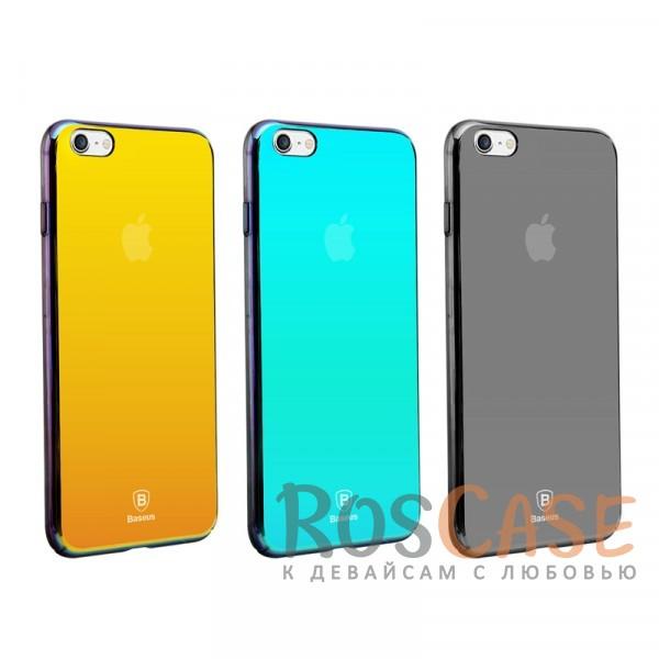 Глянцевый чехол-накладка в уникальной зеркальной расцветке с переливом Baseus Glass для Apple iPhone 6/6s (4.7)Описание:фирма&amp;nbsp;Baseus;совместим с Apple iPhone 6/6s (4.7);материал - поликарбонат;тип - накладка;расцветка с градиентом;переливающееся покрытие;зеркальный эффект;разный цвет чехла под разным углом;защищает от царапин и ударов;ультратонкий дизайн.<br><br>Тип: Чехол<br>Бренд: Baseus<br>Материал: Поликарбонат