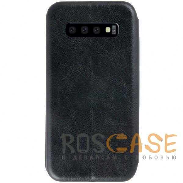 Изображение Черный Open Color 2 | Чехол-книжка на магните для Samsung Galaxy S10+ с подставкой и внутренним карманом