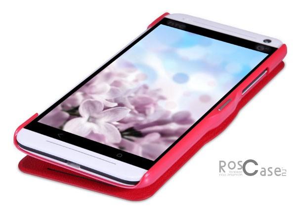 Кожаный чехол (книжка) Nillkin Fresh Series для HTC Desire 700 (Красный)Описание:Изготовлен компанией Nillkin;Спроектирован персонально для HTC Desire 700;Материал: синтетическая высококачественная кожа и пластик;Форма: чехол в виде книжки.Особенности:Исключается появление царапин и возникновение потертостей;Восхитительная амортизация при любом ударе;Передняя поверхность  -  мелкая текстурная, задняя  -  гладкая, с перламутровым оттенком;Не подвержен деформации;Непритязателен в уходе.<br><br>Тип: Чехол<br>Бренд: Nillkin<br>Материал: Искусственная кожа