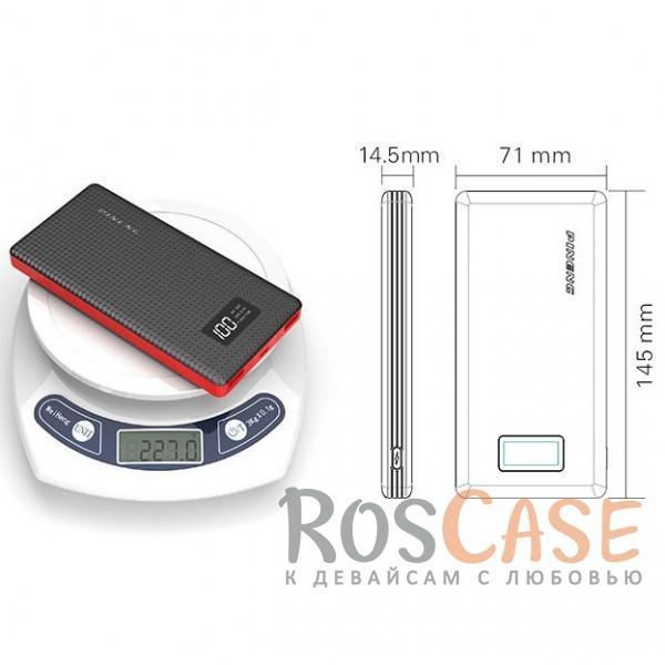 Фотография Черный Портативное зарядное устройство в противоударном корпусе с ЖК дисплеем 10000mAh (2 USB)
