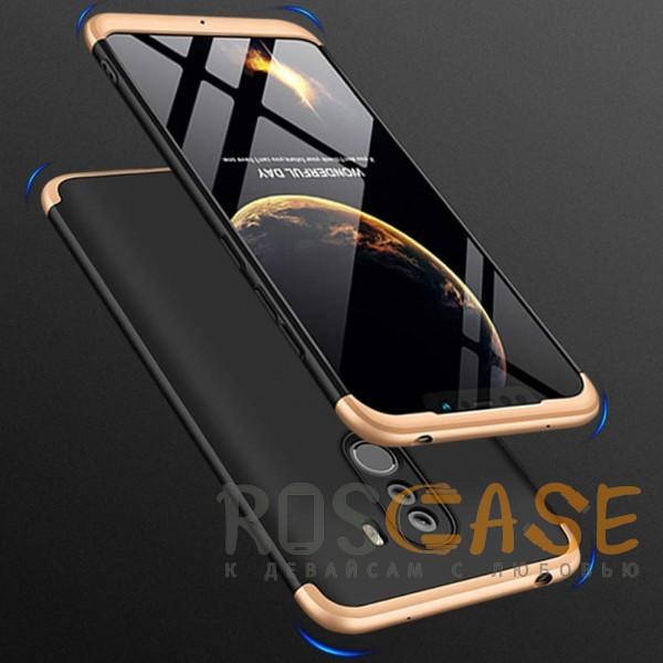 Фото Черный / Золотой GKK LikGus 360° | Двухсторонний чехол для Xiaomi Pocophone F1 с защитными вставками