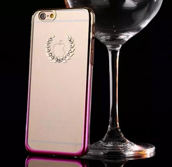 Пластиковая накладка Nice со стразами для Apple iPhone 6/6s (4.7) (Лавровый венок / золотой / розовый)Описание:производитель: Epik;совместимость: смартфон Apple iPhone 6/6s (4.7);материал: пластик;тип изделия: накладка.Особенности:оригинальный дизайн;украшен стразами;не деформируется;механизм легкой фиксации;легкая очистка.<br><br>Тип: Чехол<br>Бренд: Epik<br>Материал: TPU