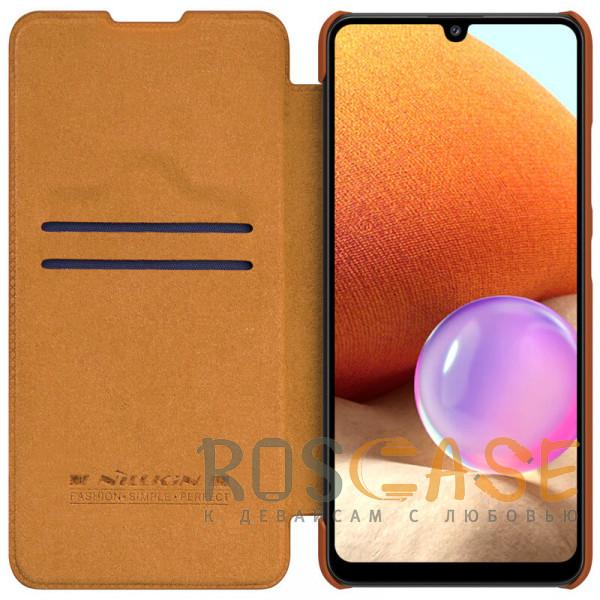 Фото Коричневый Nillkin Qin   Чехол-книжка из Premium экокожи для Samsung Galaxy A32 4G