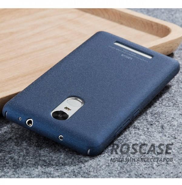 Тонкий матовый защитный чехол из пластика Msvii Quicksand с антискользящим покрытием для Xiaomi Redmi Note 3 / Redmi Note 3 Pro (Синий)Описание:производитель - Msvii;совместим с Xiaomi Redmi Note 3 / Redmi Note 3 Pro;материал  -  пластик;тип  -  накладка.&amp;nbsp;Особенности:матовая поверхность;имеет все разъемы;тонкий дизайн не увеличивает габариты;накладка не скользит;защищает от ударов и царапин;износостойкая.<br><br>Тип: Чехол<br>Бренд: MSVII<br>Материал: Пластик