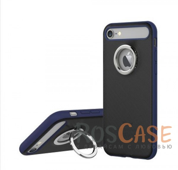 TPU+PC чехол Rock Ring Holder Case M2 Series для Apple iPhone 7 (4.7) (Синий / Blue)Описание:произведен компанией&amp;nbsp;Rock;разработан для Apple iPhone 7 (4.7);материалы: термополиуретан и поликарбонат;тип: накладка.<br><br>Тип: Чехол<br>Бренд: ROCK<br>Материал: TPU