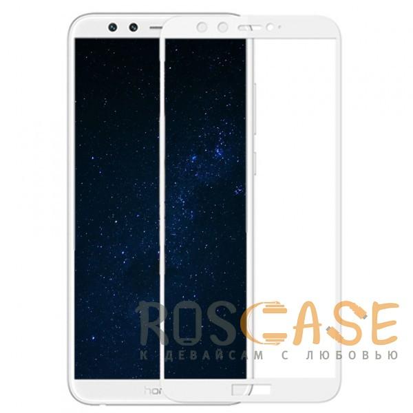 Фотография Белое Artis 2.5D | Цветное защитное стекло на весь экран для Huawei Honor 9 Lite на весь экран
