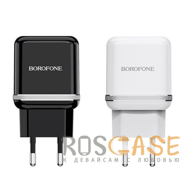 Фото Borofone BA25A | Сетевое зарядное устройство для телефона 2USB / 2.4A