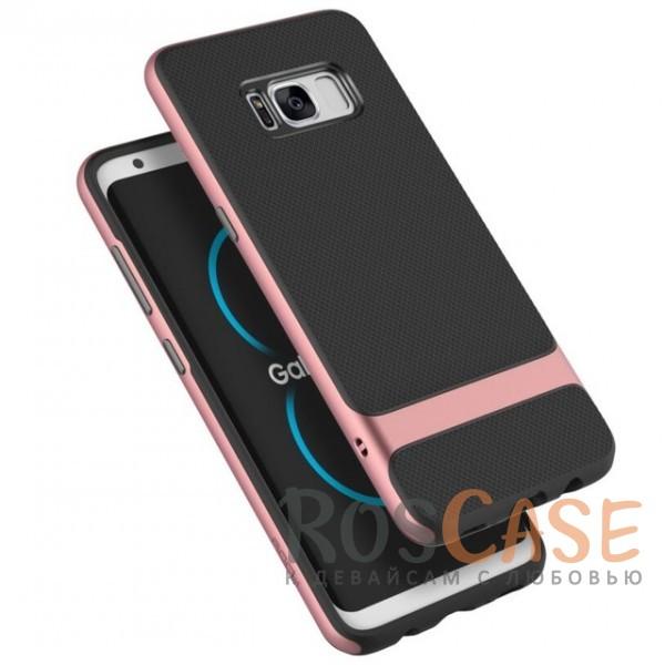 Двухслойный чехол для Samsung G955 Galaxy S8 Plus (Черный / Rose Gold)Описание:производитель -&amp;nbsp;Rock;совместим с Samsung G955 Galaxy S8 Plus;материалы - термополиуретан, поликарбонат;двухслойная конструкция;защищает от ударов;на накладке не заметны отпечатки пальцев;дублирующие клавиши защищают кнопки;защита камеры от царапин.<br><br>Тип: Чехол<br>Бренд: ROCK<br>Материал: TPU