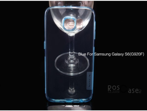 TPU чехол Nillkin Nature Series для Samsung Galaxy S6 G920F/G920D Duos (Голубой (прозрачный))Описание:производитель  - &amp;nbsp;Nillkin;совместимость: Samsung Galaxy S6 G920F/G920D Duos;материал  -  термополиуретан;форма  -  накладка.&amp;nbsp;Особенности:в наличии все вырезы;не скользит в руках;ультратонкий;защита от ударов и царапин;на накладке не видны &amp;laquo;пальчики&amp;raquo;.<br><br>Тип: Чехол<br>Бренд: Nillkin<br>Материал: TPU