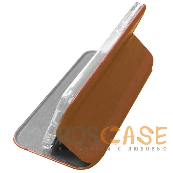 Фото Ярко-коричневый Open Color 2 | Чехол-книжка на магните для Huawei Y6 (2018) с подставкой и внутренним карманом