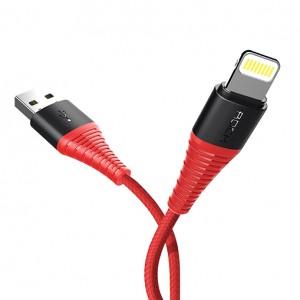 ROCK Hi-Tensile | Кабель с нейлоновой оплеткой и гибкой защитой разъемов USB to Lightning (120 см)