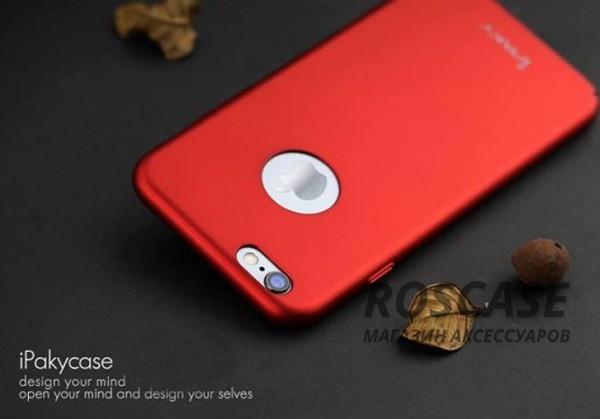 Чехол iPaky Metal Plating Series для Apple iPhone 6/6s (4.7) (Красный)Описание:производитель: iPaky;совместимость: смартфон Apple iPhone 6/6s (4.7);материал: поликарбонат;форм-фактор: накладка.Особенности:прочный и износостойкий;надежно фиксируется;не теряет первоначальный вид после длительной эксплуатации;не деформируется;легко чистится.<br><br>Тип: Чехол<br>Бренд: Epik<br>Материал: Пластик