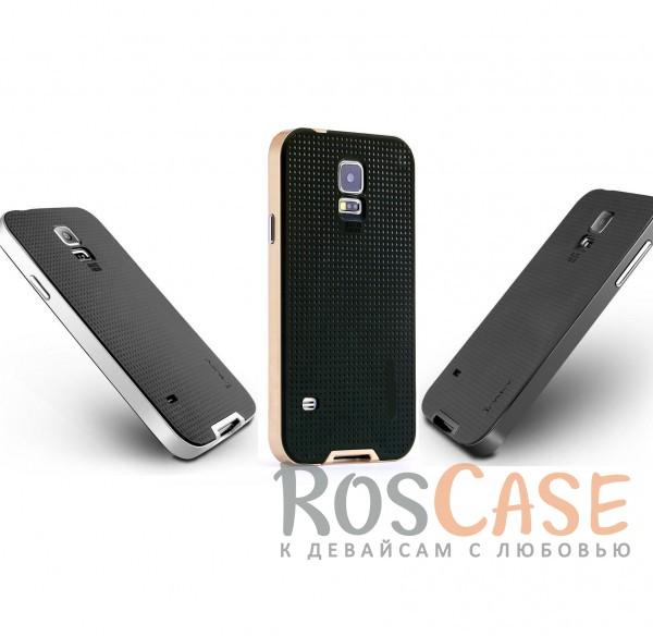 Двухкомпонентный чехол iPaky (original) Hybrid со вставкой цвета металлик для Samsung G900 Galaxy S5Описание:производитель - iPaky;совместим с Samsung G900 Galaxy S5;материал: термополиуретан, поликарбонат;форма: накладка на заднюю панель.Особенности:эластичный;рельефная поверхность;прочная окантовка;ультратонкий;защита экрана и камеры благодаря выступающим краям;надежная фиксация.<br><br>Тип: Чехол<br>Бренд: iPaky<br>Материал: TPU