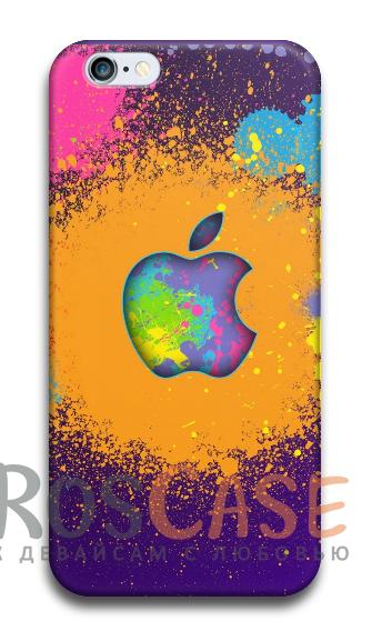 """Фото №2 Пластиковый чехол RosCase с 3D нанесением """"Лого Apple"""" для iPhone 4/4S"""