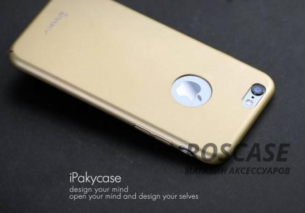 Матовый iPaky (original) Plating с глянцевой вставкой цвета металлик для Apple iPhone 6/6s (4.7) (Золотой)Описание:производитель: iPaky;совместимость: смартфон Apple iPhone 6/6s (4.7);материал: поликарбонат;форм-фактор: накладка.Особенности:прочный и износостойкий;надежно фиксируется;не теряет первоначальный вид после длительной эксплуатации;не деформируется;легко чистится.<br><br>Тип: Чехол<br>Бренд: iPaky<br>Материал: Пластик