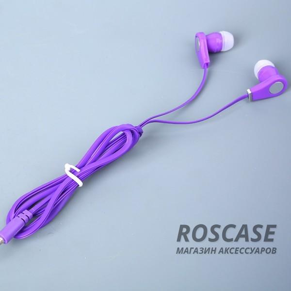 Вакуумные наушники с плоским кабелем HF-0716 (Фиолетовый)Описание:тип устройства  -  наушники-вкладыши;совместимость  -  универсальная;интерфейс подключения  -  разъем mini jack 3,5 мм;длина провода  -  1,2 м.Особенности:запоминающийся дизайн;плоский кабель;объемный и качественный звук;плотная посадка;широкий частотный диапазон.<br><br>Тип: Наушники/Гарнитуры<br>Бренд: Epik