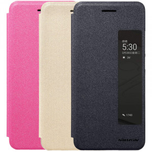 Nillkin Sparkle | Кожаный чехол-книжка для Huawei P10