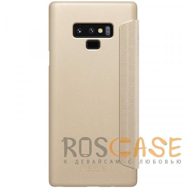 Фотография Золотой Nillkin Sparkle | Чехол-книжка для Samsung Galaxy Note 9