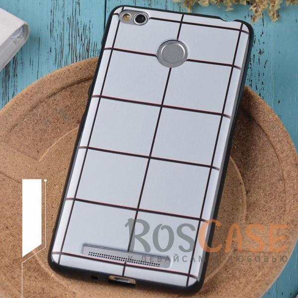 Силиконовый чехол-накладка с уникальным принтом для Xiaomi Redmi 3 Pro / Redmi 3s (Белая Клетка)<br><br>Тип: Чехол<br>Бренд: Epik<br>Материал: TPU