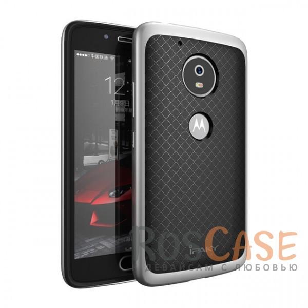 Двухкомпонентный чехол iPaky (original) Hybrid со вставкой цвета металлик для Motorola Moto G5 Plus (Черный / Серебряный)Описание:разработан специально для Motorola Moto G5 Plus;бренд - iPaky;материал - поликарбонат, термополиуретан;тип - накладка;защищает от ударов;покрытие анти-отпечатки;укрепленный бампер;предусмотрены все необходимые вырезы.<br><br>Тип: Чехол<br>Бренд: iPaky<br>Материал: TPU