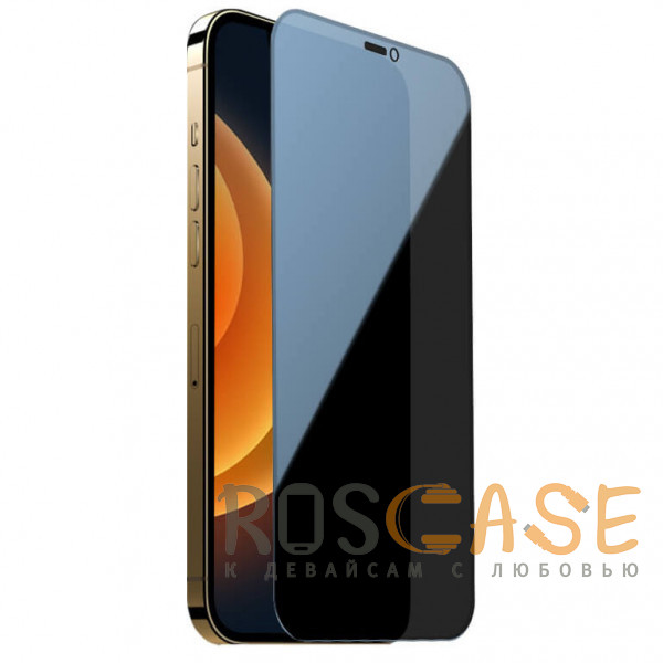 Фото Черное Nillkin Privacy   Защитное закаленное стекло Антишпион для iPhone 12 / 12 Pro