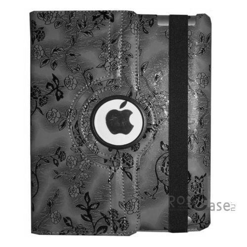 Фото чехла книжки TTX (BLACK Flowers) (360 градусов) для Apple iPad Air