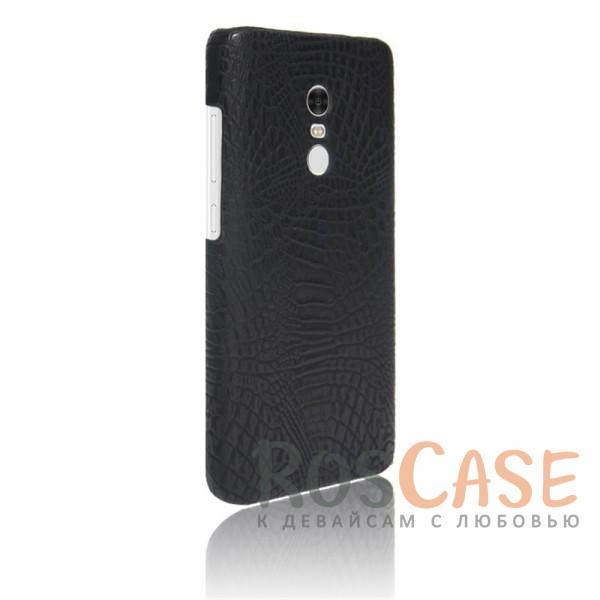 Кожаный чехол с узором из крокодиловой кожи Croc Series для Xiaomi Redmi Note 4 (Черный)<br><br>Тип: Чехол<br>Бренд: Epik<br>Материал: Искусственная кожа
