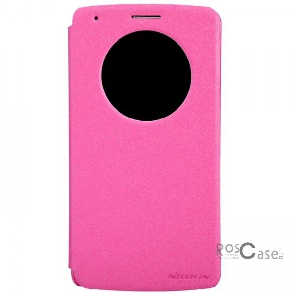 Кожаный чехол (книжка) Nillkin Sparkle Series для LG D855/D850/D856 Dual G3 (Розовый)Описание:Изготовлен компанией Nillkin;Спроектирован персонально для LG D855/D850/D856 Dual G3;Материал: синтетическая кожа и поликарбонат;Форма: чехол в виде книжки.Особенности:Исключается появление царапин и возникновение потертостей;Восхитительная амортизация при любом ударе;Фактурная поверхность;Удобное интерактивное окошко;Не подвергается деформации;Непритязателен в уходе.<br><br>Тип: Чехол<br>Бренд: Nillkin<br>Материал: Искусственная кожа