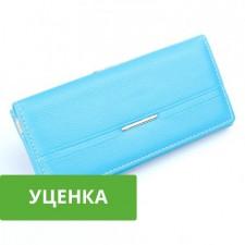 Glory | Кожаный кошелек с монетницей на застежке (7 отделений) (уценка)