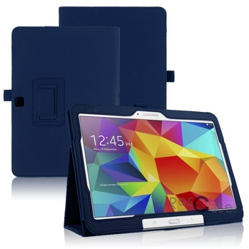 Кожаный чехол-книжка TTX c функцией подставки для Samsung Galaxy Tab 4 10.1/Galaxy Tab S 10.5 (Синий)Описание:разработка и изготовление TTX;изготовлен из синтетической кожи;фактурная поверхность;внутри отделан микрофиброй;тип конструкции: чехол-книжка;совместим с Samsung Galaxy Tab 4 10.1/Galaxy Tab S 10.5.&amp;nbsp;Особенности:износостойкий;добротный классический дизайн;может выполнять функцию подставки;широкая палитра цветов;легко очищается.<br><br>Тип: Чехол<br>Бренд: TTX<br>Материал: Искусственная кожа