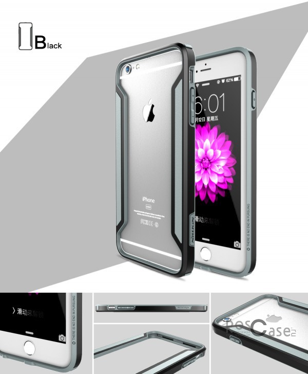 Бампер Nillkin Armor-Border Series для Apple iPhone 6/6s plus (5.5) (Черный)Описание:производитель  - &amp;nbsp;Nillkin;совместим с Apple iPhone 6/6s plus (5.5);материал  -  пластик;форма  -  бампер.&amp;nbsp;Особенности:тонкий;имеет все необходимые вырезы;прочный;не увеличивает габариты;защищает от ударов и падений;вставка &amp;laquo;анти-шок&amp;raquo;.<br><br>Тип: Чехол<br>Бренд: Nillkin<br>Материал: Пластик