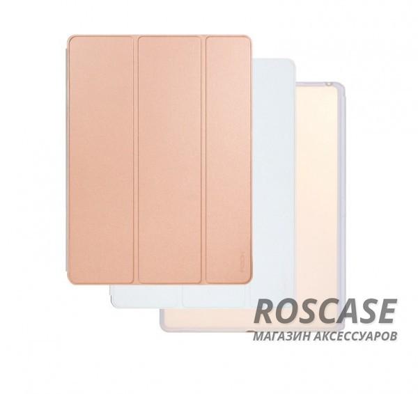 Чехол (книжка) Rock Phantom Series для Apple iPad Pro 12,9 (Розовый / Белый)Описание:производитель -&amp;nbsp;ROCK;совместим с Apple iPad Pro 12,9;материал: искусственная кожа;тип: чехол-книжка.Особенности:все функциональные вырезы в наличии;двухцветную обложку можно переставлять, меняя цвет чехла;трансформируется в подставку;функция Sleep mode;защита от механических повреждений;матовый;не скользит в руках.<br><br>Тип: Чехол<br>Бренд: ROCK<br>Материал: Искусственная кожа