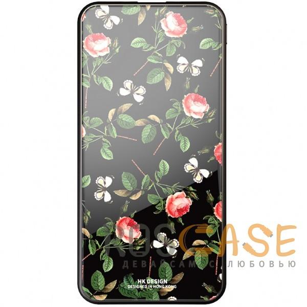 Фото Розы / Бабочки Bonen GlassPrint WK HP-55   Портативное зарядное устройство Power Bank со стеклянным покрытием и принтом (10000 mAh)