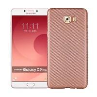 Матовый чехол для Samsung Galaxy C9 Pro с текстурированной поверхностью под карбон