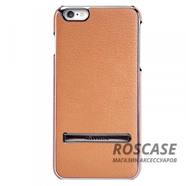 Кожаная накладка с подставкой Nillkin M-Jarl Series для Apple iPhone 6/6s (4.7) (Коричневый)Описание:производитель  -  Nillkin;разработан для Apple iPhone 6/6s (4.7);материалы  -  искусственная кожа, металл;тип  -  накладка.&amp;nbsp;Особенности:элегантный дизайн;в наличии функциональные вырезы;не видны отпечатки пальцев;металлическая окантовка;защищает от царапин и падений;функция подставки.<br><br>Тип: Чехол<br>Бренд: Nillkin<br>Материал: Искусственная кожа