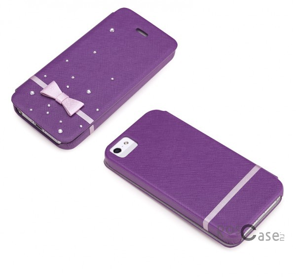 Фото чехла-книжки ROCK 8thdays Monroe's STAR Series для Apple iPhone 5 - цвет фиолетовый