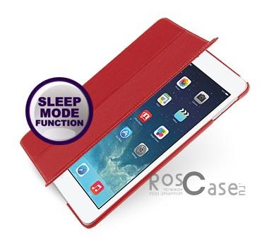 Кожаный чехол (книжка) TETDED для Apple IPAD AIR (Красный / Red)Описание:бренд:&amp;nbsp;TETDED;совместим с Apple IPAD AIR;материал: натуральная кожа;форма: книжка.&amp;nbsp;Особенности:выполнен вручную;полный набор функциональных прорезей;тонкое исполнение;функция Sleep mode;амортизация силы удара.<br><br>Тип: Чехол<br>Бренд: TETDED<br>Материал: Натуральная кожа