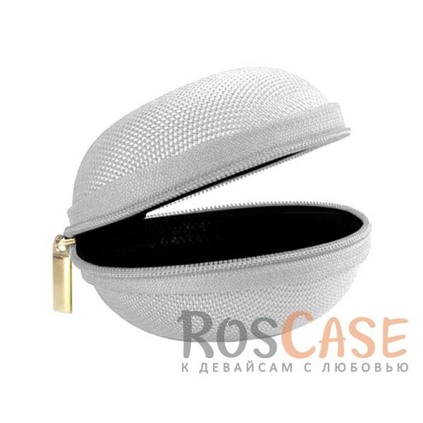 Фотография Серый Текстурный ударопрочный чехол-футляр для наушников