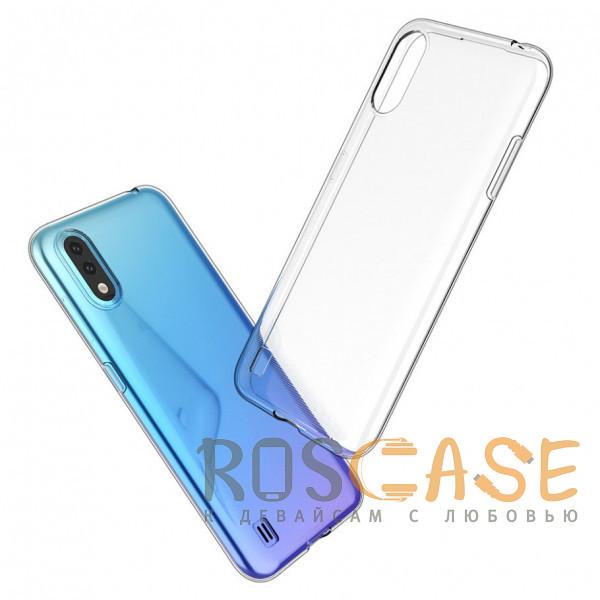 Фото Прозрачный Прозрачный силиконовый чехол для Samsung Galaxy A01
