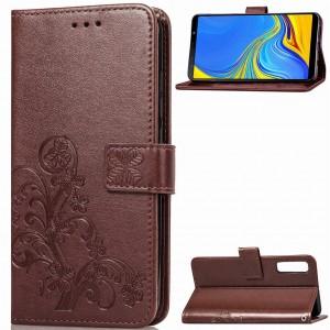 Чехол-книжка с узорами на магнитной застёжке для Samsung A750 Galaxy A7 (2018)