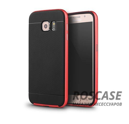 Чехол iPaky TPU+PC для Samsung Galaxy S6 G920F/G920D Duos (Черный / Красный)Описание:компания-разработчик: iPaky;совместимость с устройством модели: Samsung Galaxy S6 G920F/G920D Duos;материал изделия: термопластический полиуретан, поликарбонат;конфигурация: накладка-бампер.Особенности:элегантный дизайн;высокий класс прочности и износоустойчивости;легко и надежно фиксируется на смартфоне;имеет все необходимые функциональные вырезы.<br><br>Тип: Чехол<br>Бренд: Epik<br>Материал: TPU