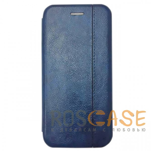 Фото Темно-синий  Open Color 2 | Чехол-книжка на магните для Xiaomi Redmi 6 с подставкой и внутренним карманом
