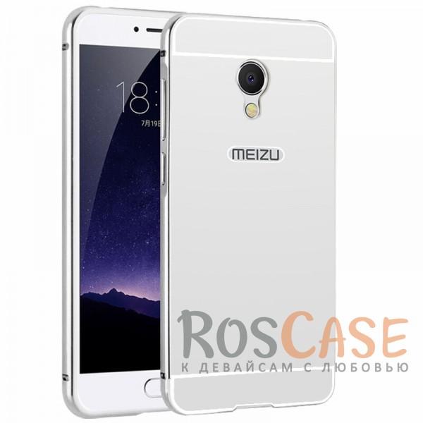 Металлический бампер с акриловой вставкой с зеркальным покрытием для Meizu MX6 (Серебряный)Описание:разработан для Meizu MX6;материалы - металл, акрил;тип - бампер с задней панелью.<br><br>Тип: Чехол<br>Бренд: Epik<br>Материал: Металл