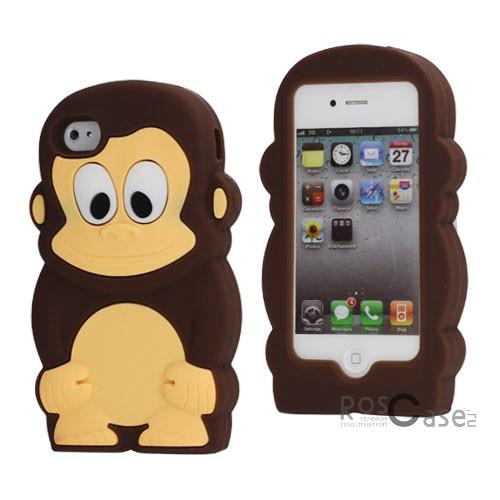фото силиконовый чехол Monkey для Apple iPhone 4/4S