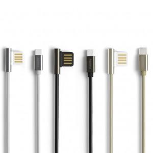 Remax Emperor | Дата кабель USB to Type-C с угловым штекером USB (100 см)